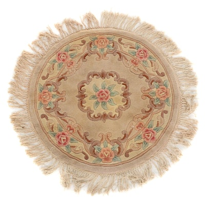 3'10 x 4'0 Hand-Tufted Chinese Peking Round Rug
