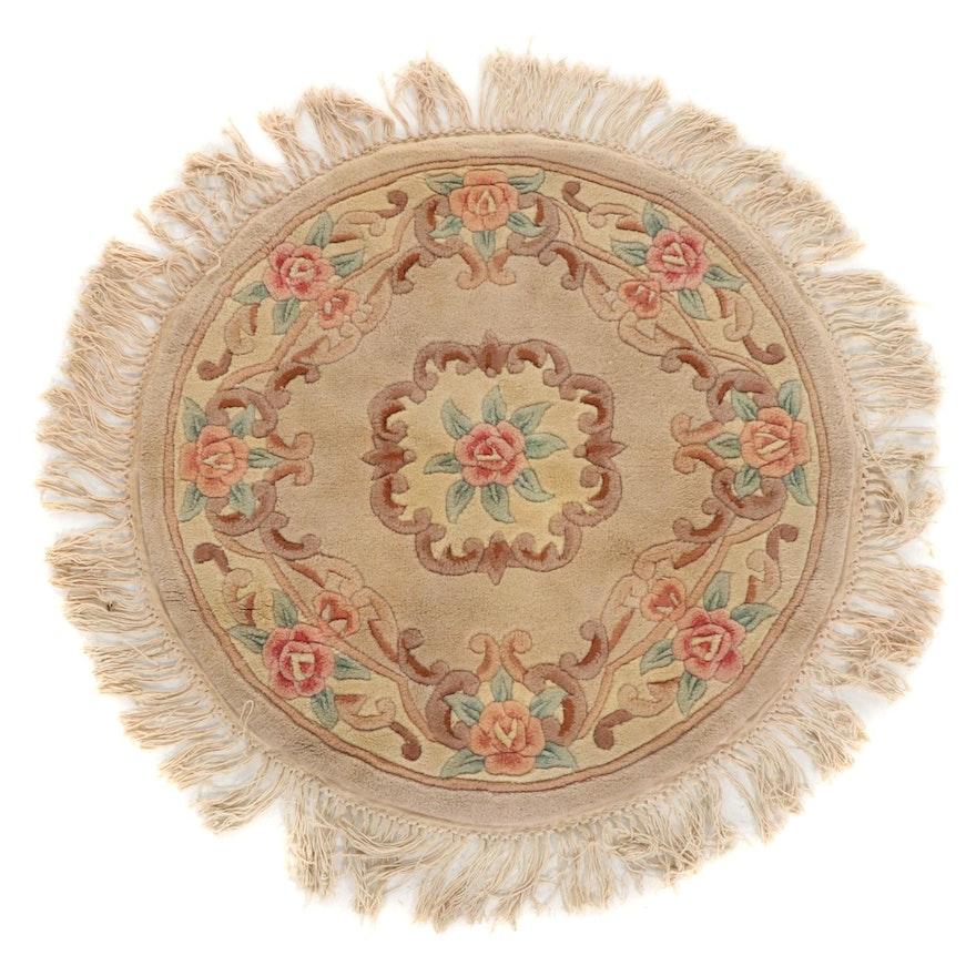 3'10 x 4'0 Hand-Tufted Chinese Peking Round Rug