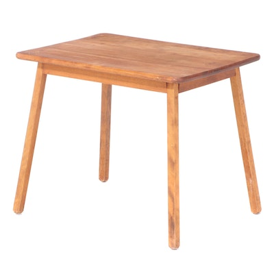 Birch Side Table, Mid-20th Century