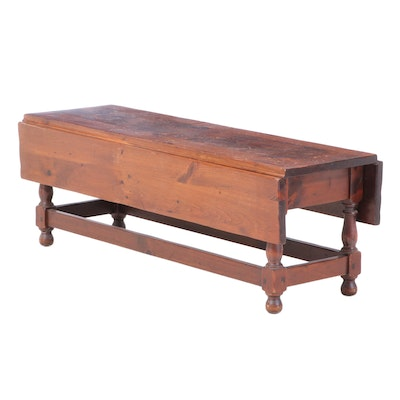 Deming Craftsmen of Connecticut Pine Drop-Leaf Coffee Table, Mid-20th Century