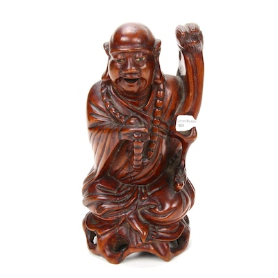 Chinese Carved Wooden Buddha Figure