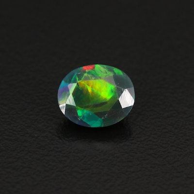 Loose 1.36 CT Oval Faceted Opal