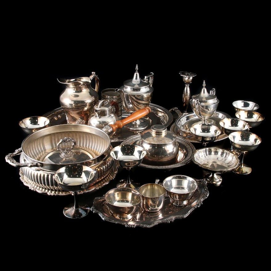 "Gorham ""Heritage"" and Assorted Silver Plate Serveware Collection"