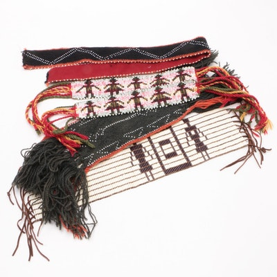Wampum Belt with Figures and Other Accessories