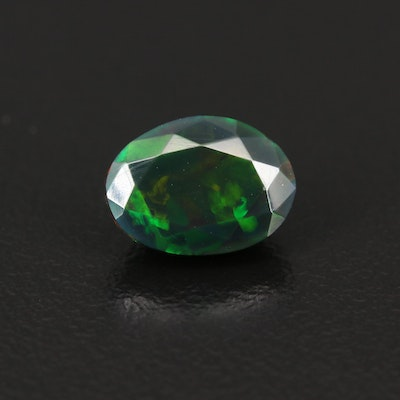 Loose 1.65 CT Oval Faceted Opal