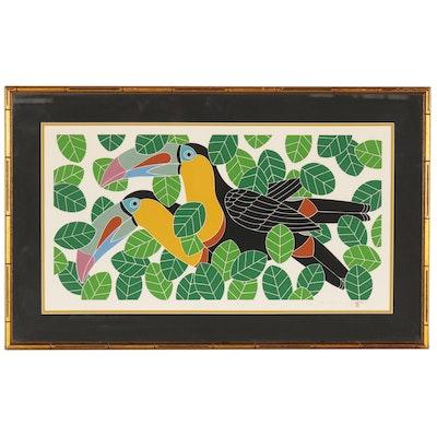 "Ikki Matsumoto Serigraph ""Toucans"", 20th Century"