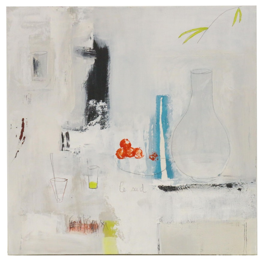 Pouké Halpern Oil Painting of Still Life Abstraction, 2012