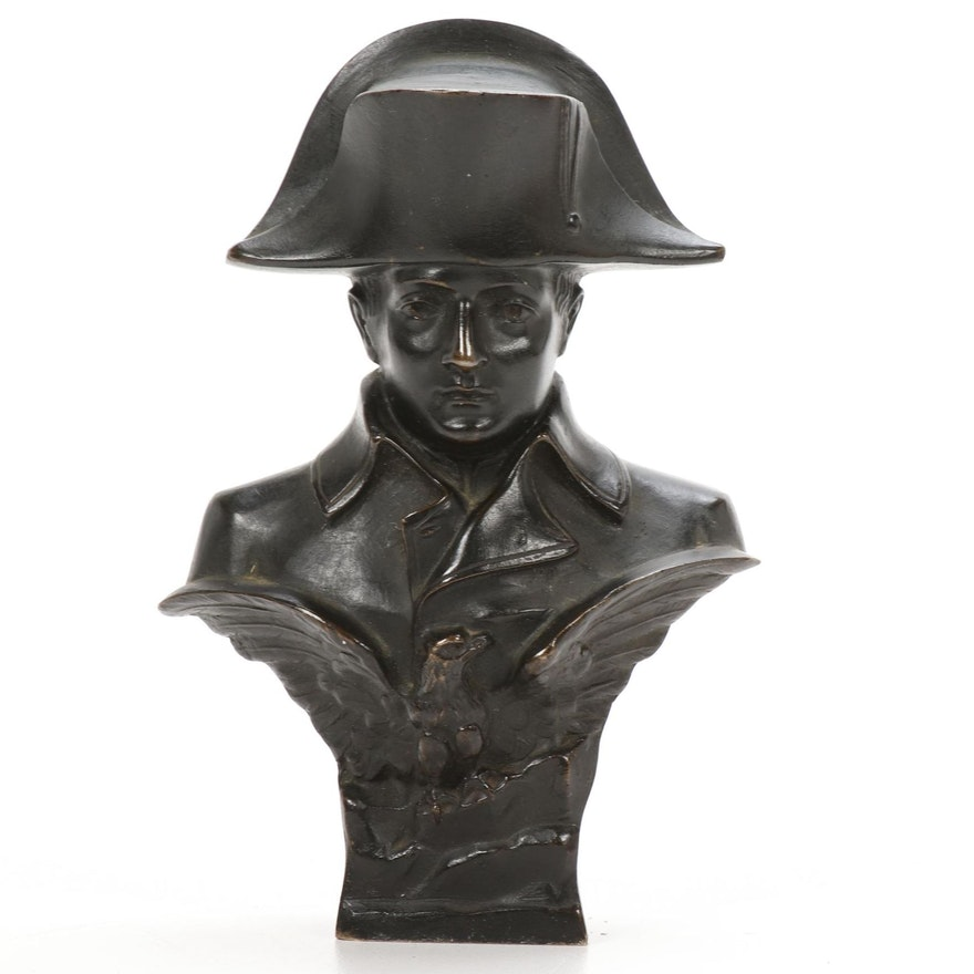 Cast Bronze Bust of Napoleon Bonaparte