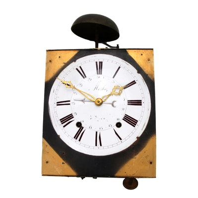 Industrial Style Wall Clock, Vintage