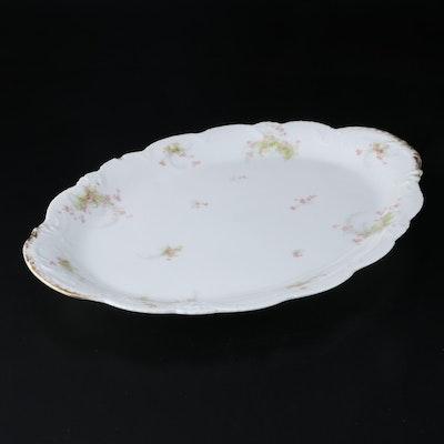 Theodore Haviland Limoges Pink Apple Blossoms Porcelain Oval Platter