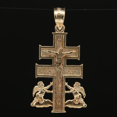 Michael Anthony 10K Cross of Caravaca Pendant