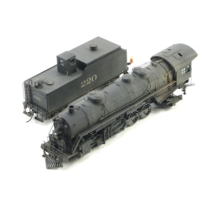 Broadway Imports Brass Hybrid HO Scale Locomotive and Tender in Original Box