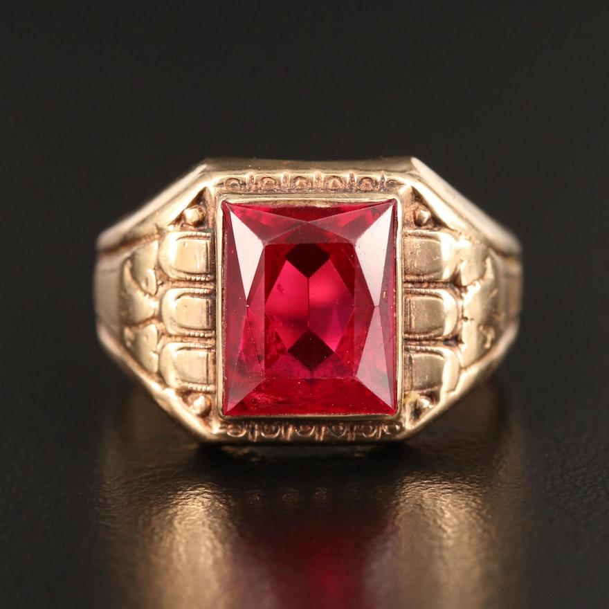 Retro 10K Ruby Ring