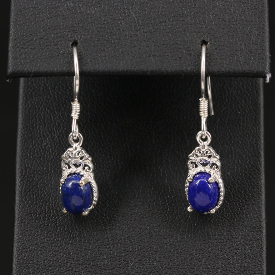 Sterling Lapis Lazuli Dangle Earrings