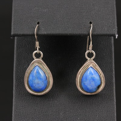 Sterling Lapis Lazuli Teardrop Dangle Earrings