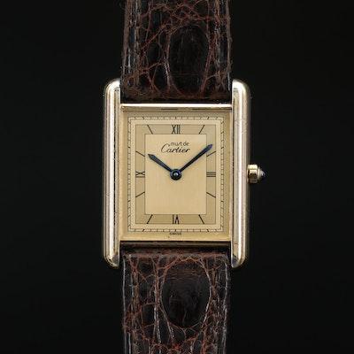 Vintage Cartier Tank Vermeil Quartz Wristwatch