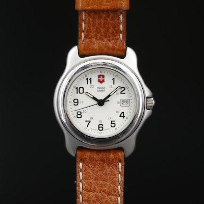 Swiss Army Officer's Stainless Steel Quartz Wristwatch