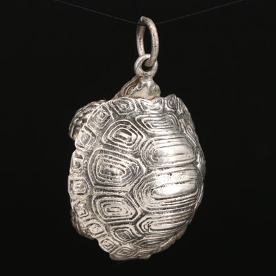 Sterling Tortoise Pendant with Hinged Shell