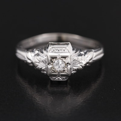 Art Deco Style 18K Diamond Ring