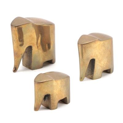Minimalist Style Metal Elephant Figurines