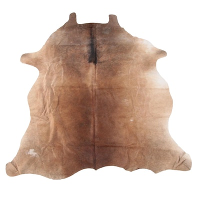 5'6 x 7'0 Natural Light Brindle Cow Hide Area Rug