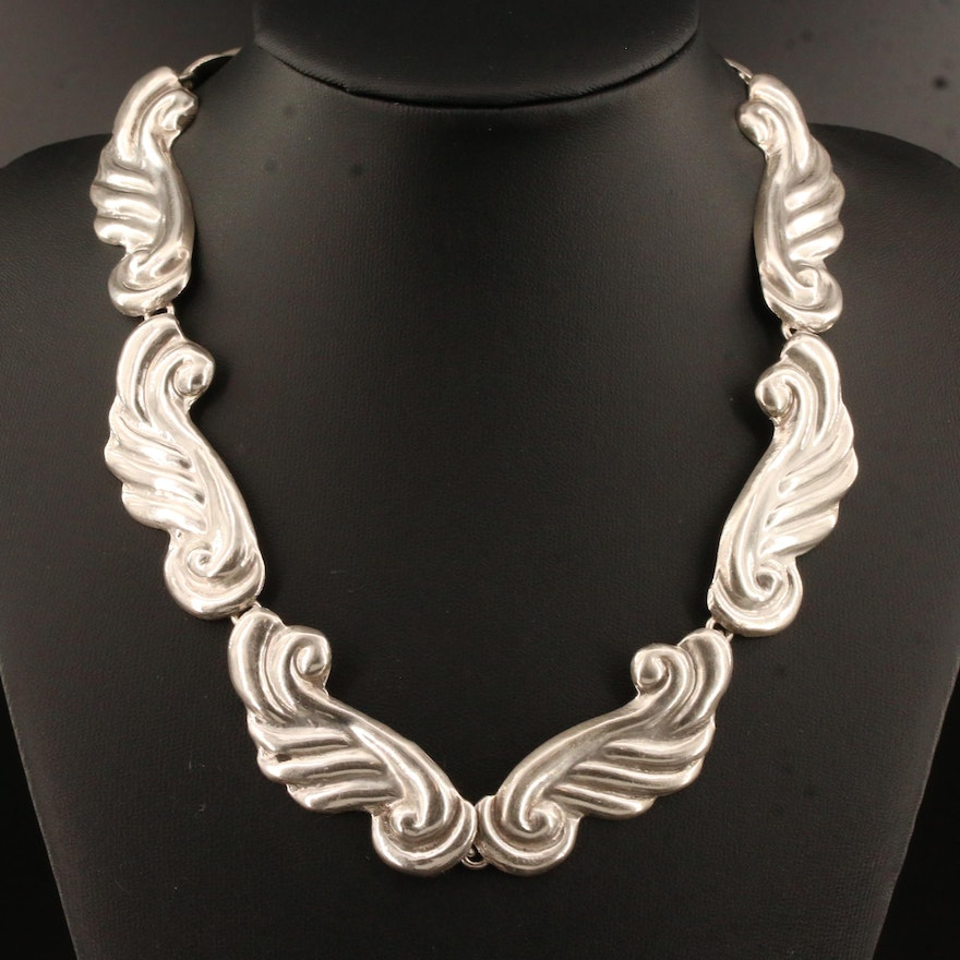 Mexican 925 Scroll Motif Necklace