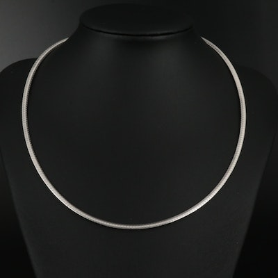 Sterling Silver Omega Chain Necklace