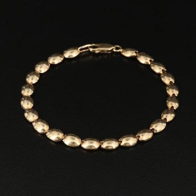 14K Oval Link Bracelet
