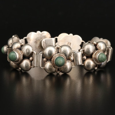 Mexican Sterling Silver Calcite Link Bracelet