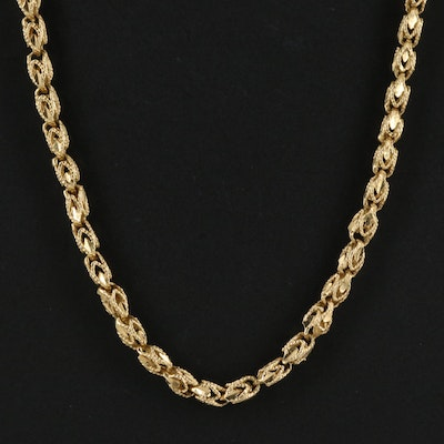 14K Openwork Fancy Chain Necklace