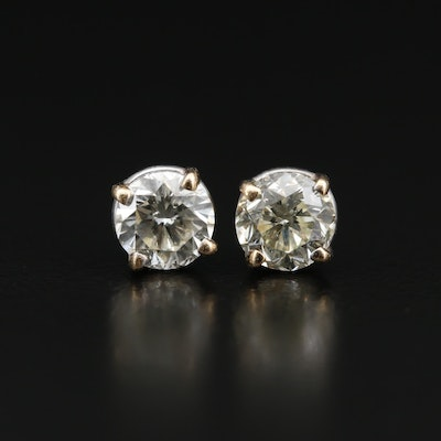 14K 2.05 CTW Diamond Solitaire Stud Earrings