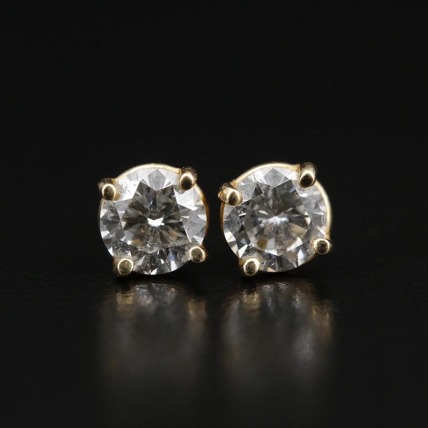14K 1.39 CTW Diamond Stud Earrings