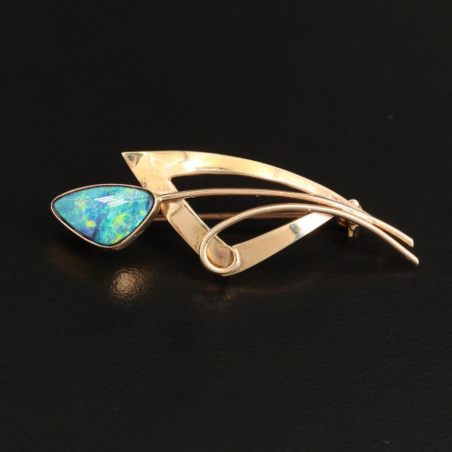 10K Opal Doublet Converter Brooch