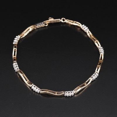 10K Diamond Link Bracelet