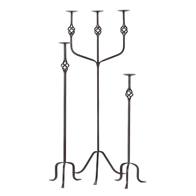 Pier 1 Imports Cast Iron Floor-Standing Candle Holders