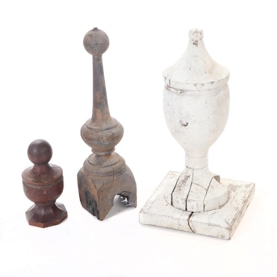 Turned Wood Post Architectural Finials