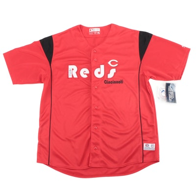 Zach Cozart Signed Cincinnati Reds True Fan Base Ball Replica Jersey