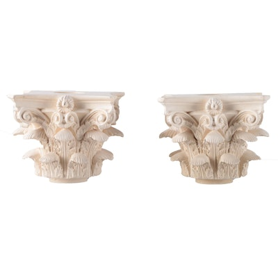 Italian Style Caved Plaster Decorative Garden Capitols