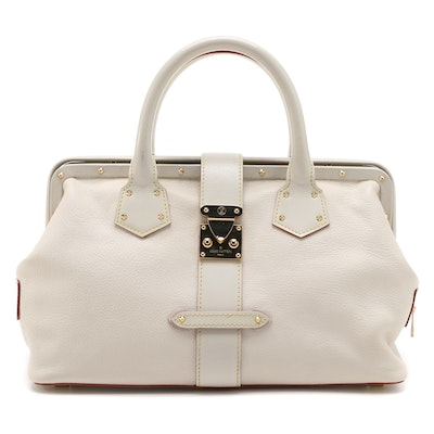Louis Vuitton Suhali L'Ingenieux PM in Off-White Goat Leather and Smooth Leather