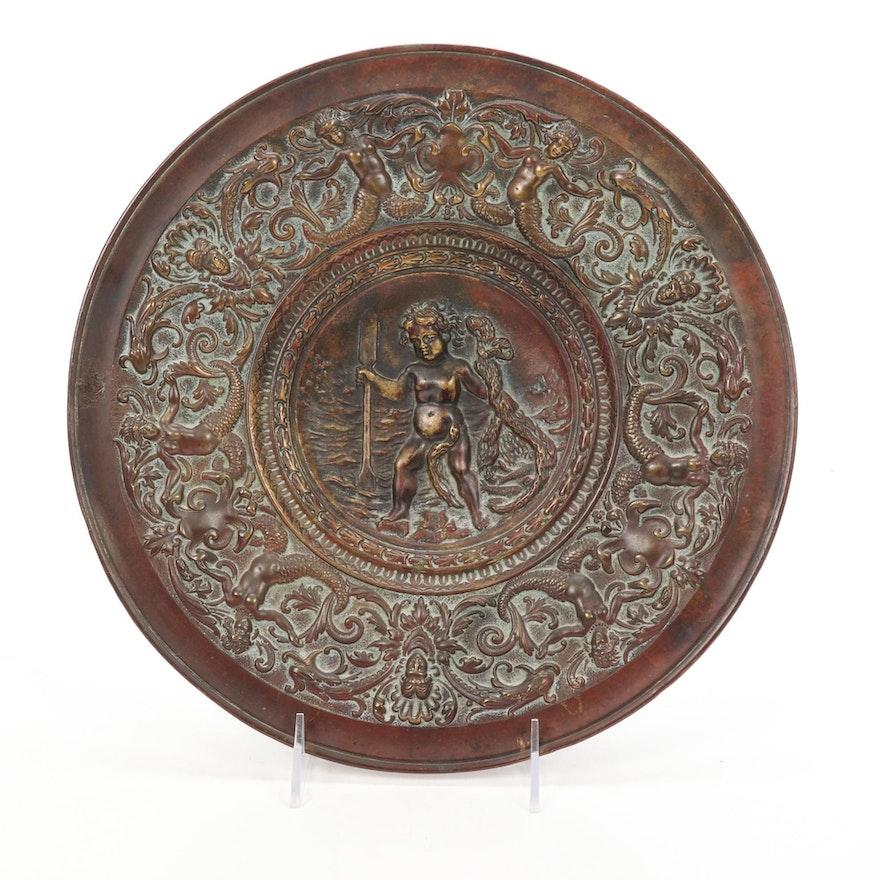 Baroque Style Bronze Tray
