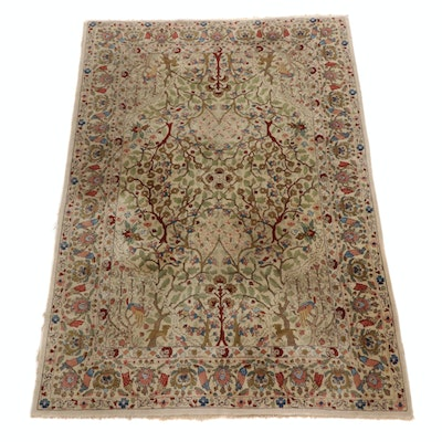 6'5 x 9'5 Hand-Knotted Persian Tabriz Tree of Life Area Rug