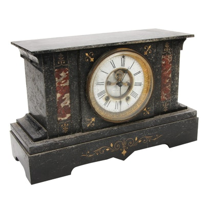 Seth Thomas Slate Mantel Clock, Antique