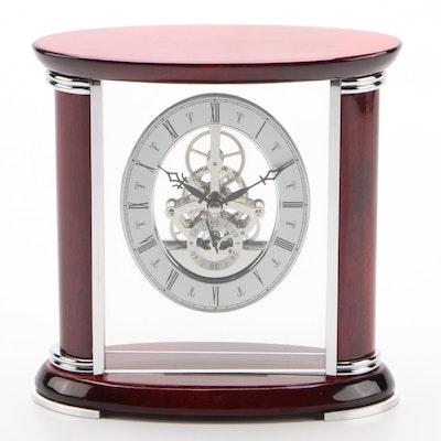 Bey-Berk Mantel Clock with Visible Gears