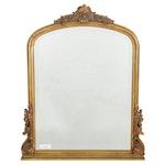 Giltwood Floral Motif Wall Mirror