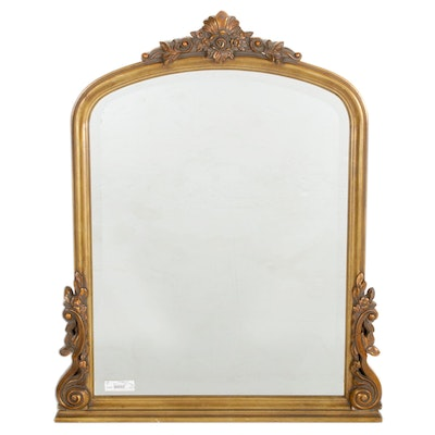 Giltwood Floral Motif Wall Mirror