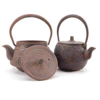Japanese Cast Iron Miniature Teapots
