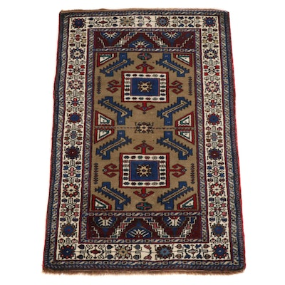 2'8 x 4'5 Hand-Knotted Afghani-Persian Rug