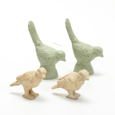 Metal Bird Figurines