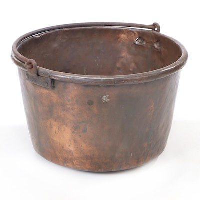 Copper and Iron Apple Butter Kettle, Late 19th to Early 20th Century