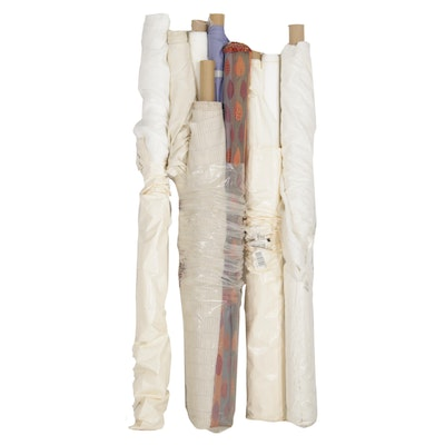 Steve Harsey and Other Fabric Bolts Including Linen and Cotton, 21st C.